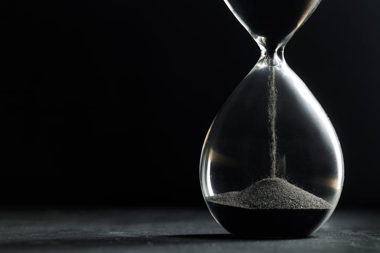 hourglass-dark-background